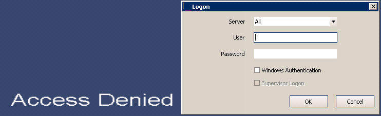 Logging In, Switching Users, and Supervisor Logon