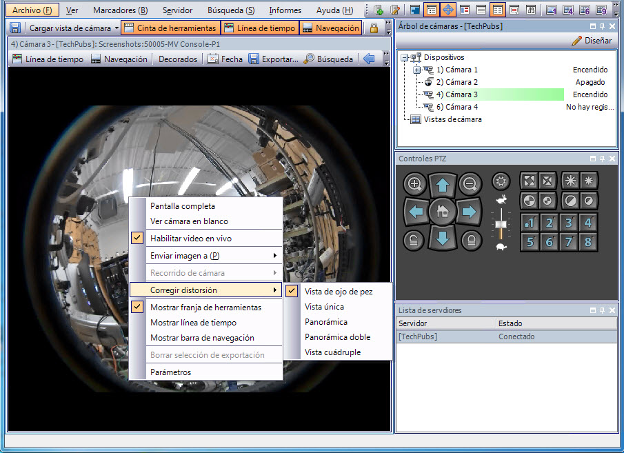 Dispositivo: cámaras de red (IP) o servidores de video